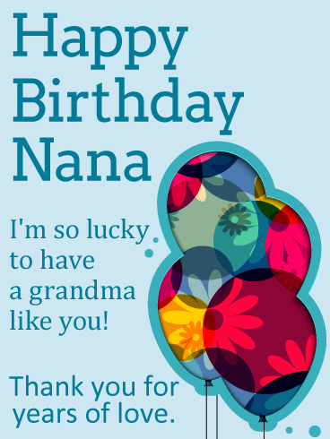 So Lucky to Have You - Happy Birthday Card for Grandma
