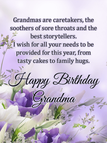 Grandmas are Caretakers - Happy Birthday Card