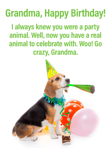 Go Crazy! Happy Birthday Card for Grandmother