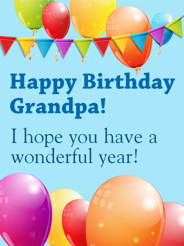 Birthday Balloon Card for Grandpa