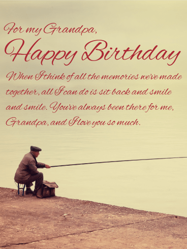 For my dear grandpa happy birthday wishes card birthday you make me smile happy birthday wishes card for grandpa m4hsunfo