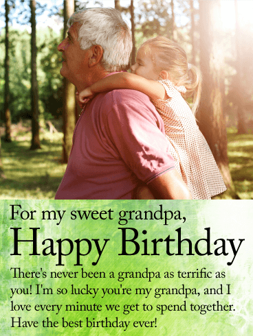 For my Sweet Grandpa - Happy Birthday Wishes Card
