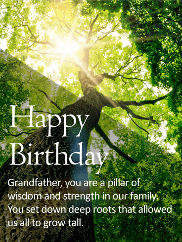 For my Dear Grandpa - Happy Birthday Wishes Card