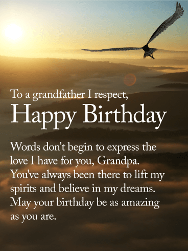 To an Amazing Grandpa - Happy Birthday Wishes Card