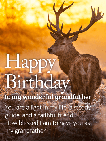 To my Wonderful Grandfather - Happy Birthday Wishes Card