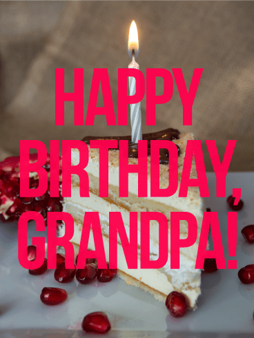 Happy Birthday Grandpa Card
