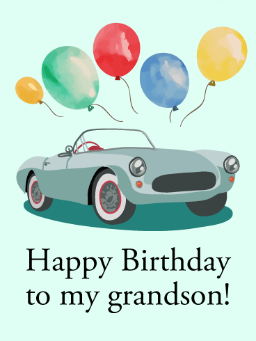 Happy Birthday Card For Grandson