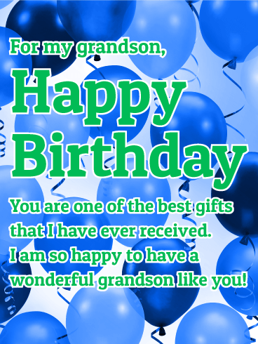 To a Wonderful Grandson - Happy Birthday Wishes Card