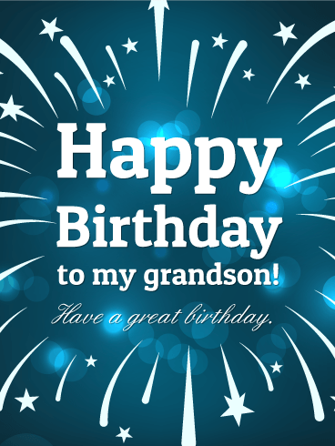 Sparkle birthday cards for grandson birthday greeting cards by have a great birthday happy birthday card for grandson m4hsunfo