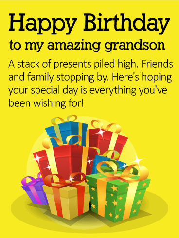 To my Amazing Grandson - Happy Birthday Wishes Card