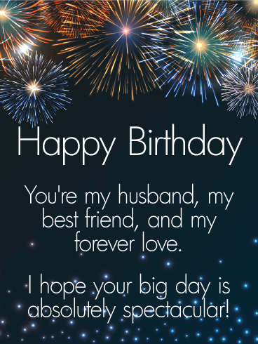To my Forever Love - Happy Birthday Wishes Card for Husband