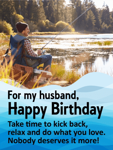 Do What You Love! Happy Birthday Wishes Card for Husband