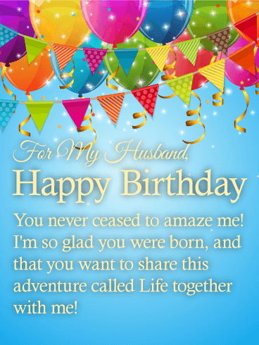 Fantastic Happy Birthday Wishes Card for Husband