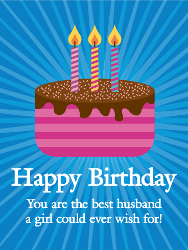 Funky Happy Birthday Card for Husband