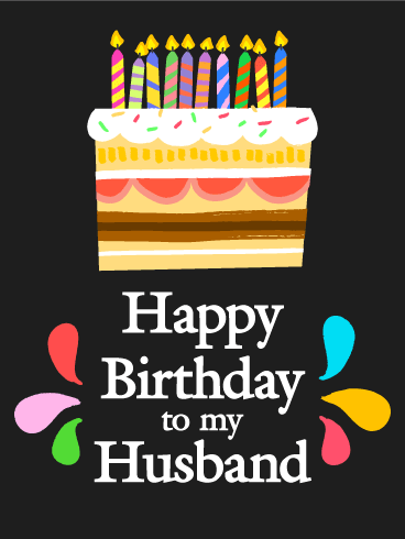 Sweet Surprise! Happy Birthday Card for Husband