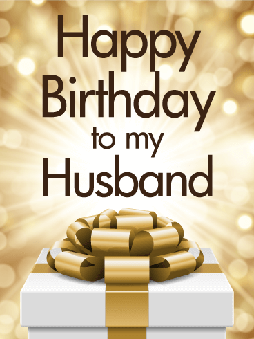 Image of: Gifs Golden Happy Birthday Card For Husband Birthday Greeting Cards By Davia Golden Happy Birthday Card For Husband Birthday Greeting Cards