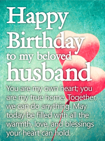 You are my Own Heart - Happy Birthday Wishes Card for Husband