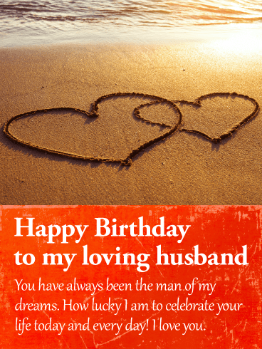 I am Lucky to Celebrate! Happy Birthday Wishes Card for Husband