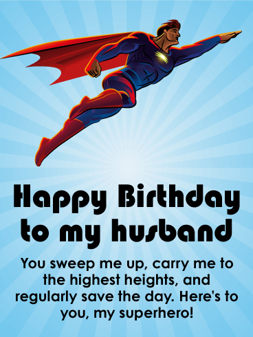 Powerful Happy Birthday Wishes Card for Husband