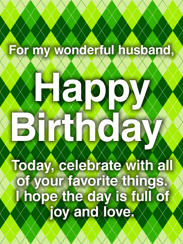 Classy Happy Birthday Wishes Card for Husband