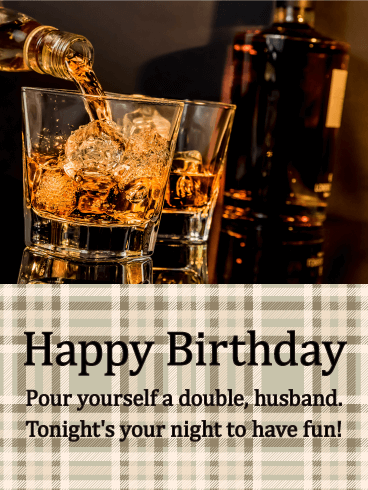Tonight's Your Night! Happy Birthday Card for Husband