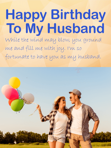 Amazing Happy Birthday Wishes Card For Husband