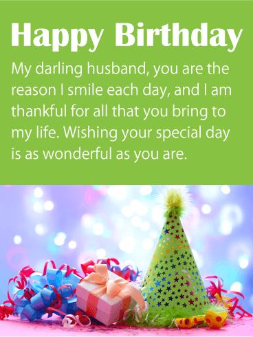 I am Thankful for You - Happy Birthday Wishes Card for Husband