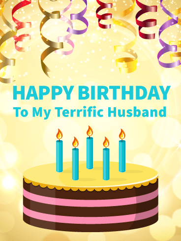 Fun Birthday Party Card for Husband