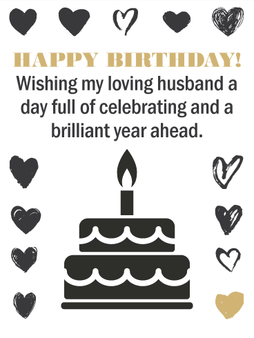 Show Some Love - Happy Birthday Card for Husband