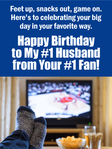From Your #1 Fan - Happy Birthday Card for Husband