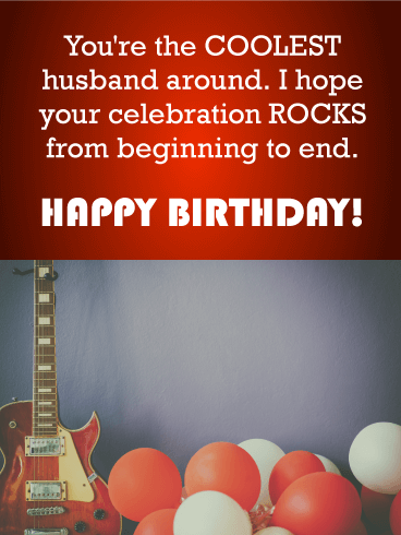You're the Coolest Husband! Happy Birthday Wishes Card