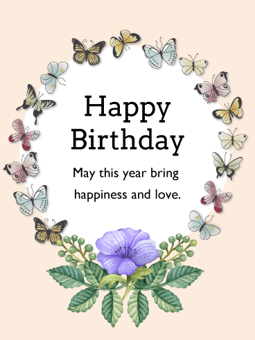 Happiness and Love - Birthday Card