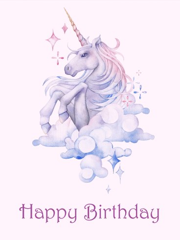Gorgeous Unicorn Happy Birthday Card