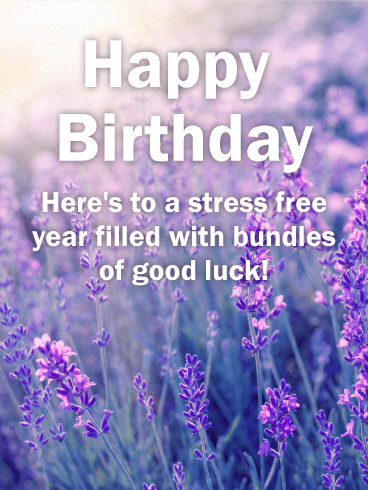 Pretty Lavender Happy Birthday Card