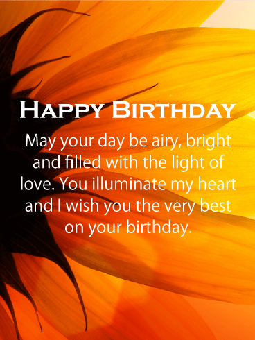 Wish You the Very Best - Happy Birthday Card