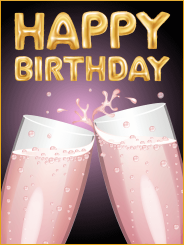 Cheers! Happy B-Day Card