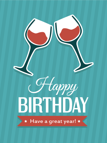Cheers! Happy Birthday Card