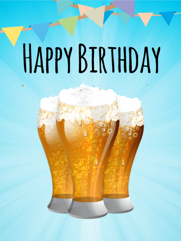 Celebrate With Beers Happy Birthday Card