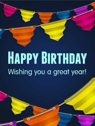 Wishing You a Great Year - Happy Birthday Card