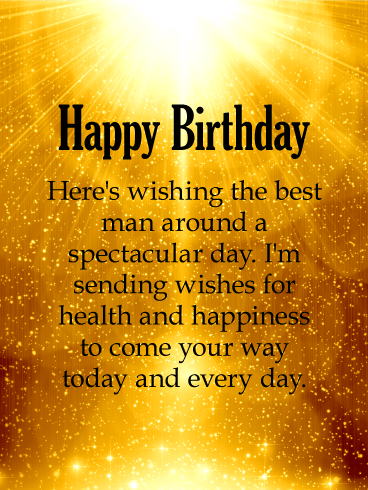 Shinning Gold Happy Birthday Wishes Card