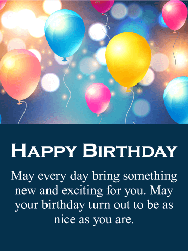 All the Best - Happy Birthday Card