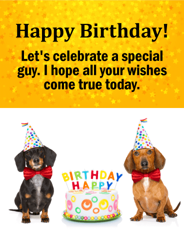 To a Special Guy - Happy Birthday Wishes Card