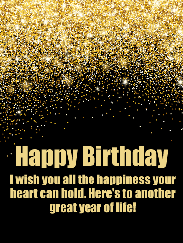 Have a Great Year! Happy Birthday Wishes Card