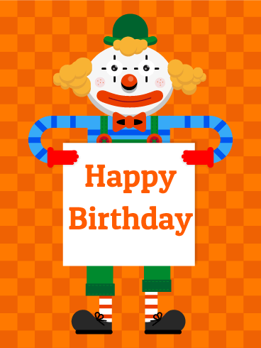 Birthday Clown Card for Kids