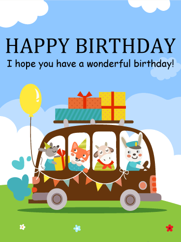 It's Time to Celebrate! Happy Birthday Cards for Kids
