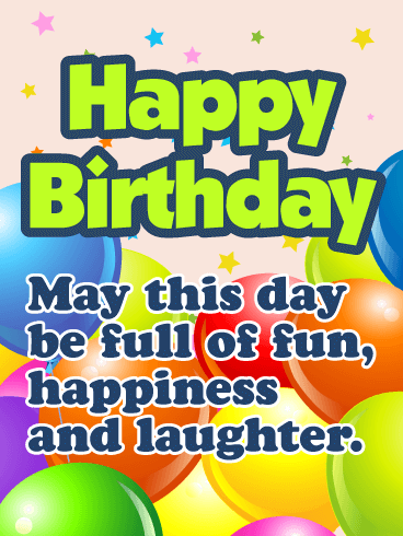 Rainbow Color Birthday Balloon Card for Kids