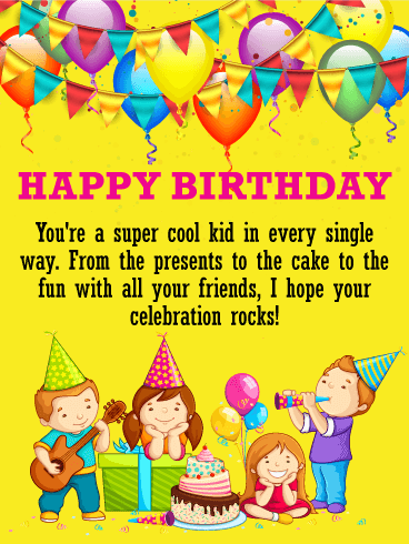 To a super kid happy birthday wishes card birthday greeting to a super kid happy birthday wishes card bookmarktalkfo Gallery