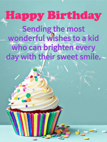 You Brighten Days! Happy Birthday Wishes Card for Kids
