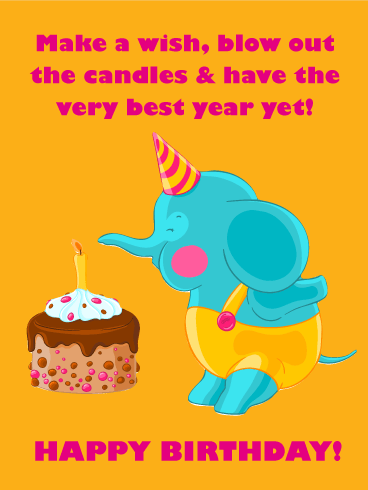 Have the Best Year! Happy Birthday Card for Kids