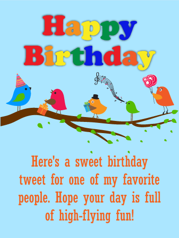 Sweet Birds Birthday Card for Kids